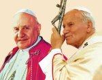 Jean XXIII et Jean Paul II.