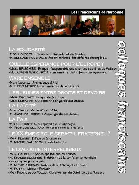 Présentation conférence fransciscaine
